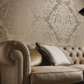 papier peint textile dans le salon