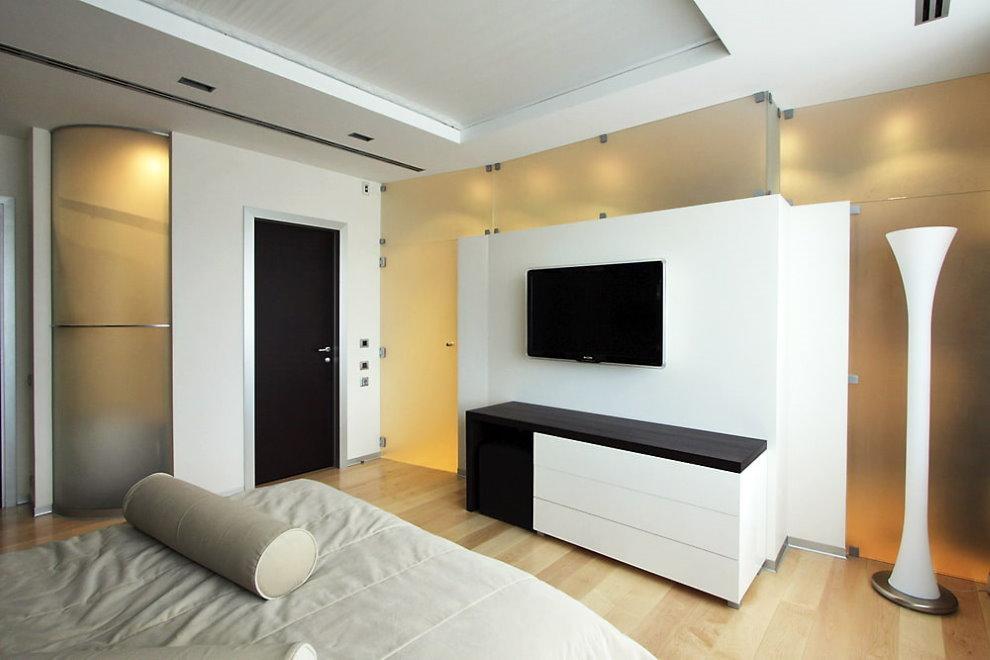 Panneau de télévision de style minimaliste
