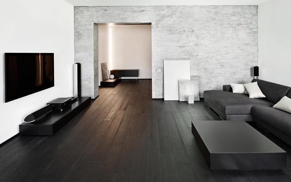 Chambre minimaliste spacieuse