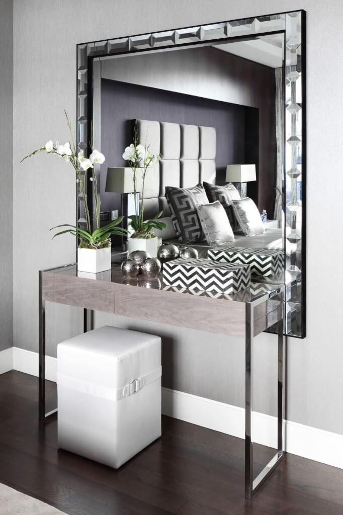 Miroir mural avec miroir carré