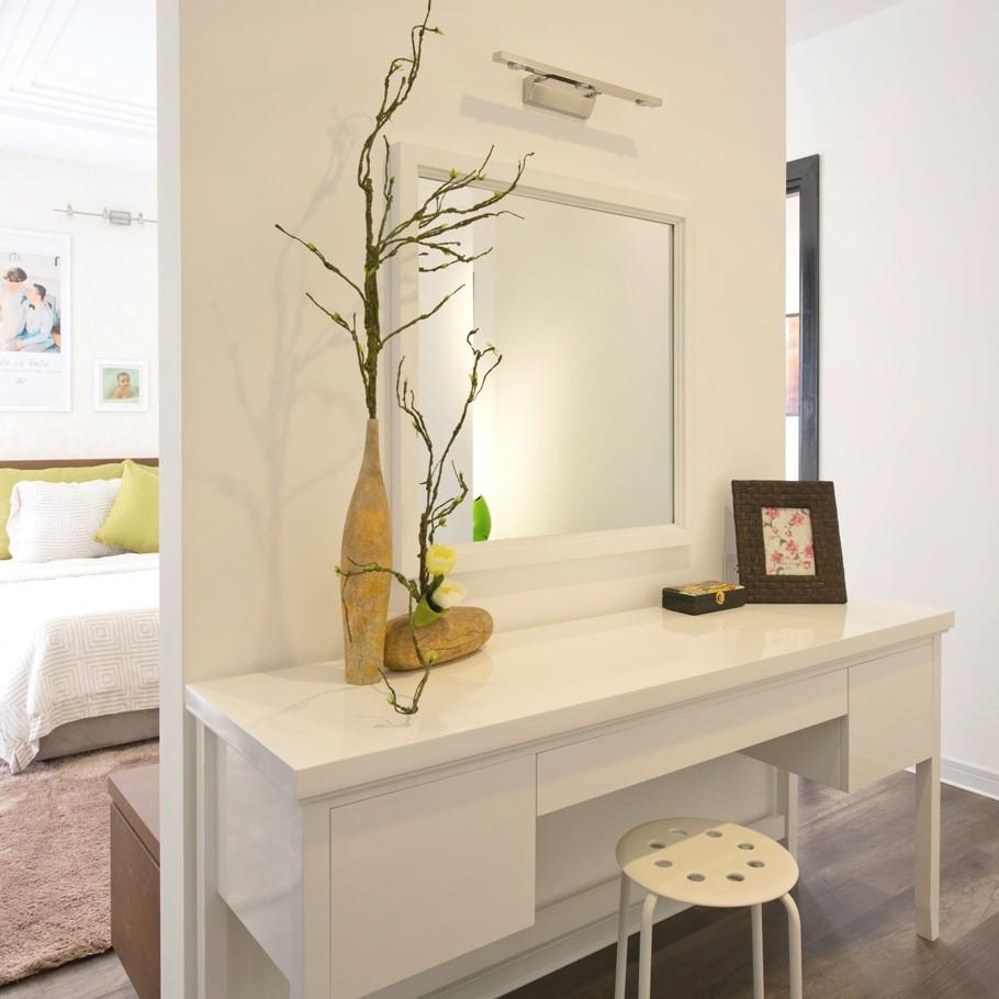 Coiffeuse blanche avec miroir