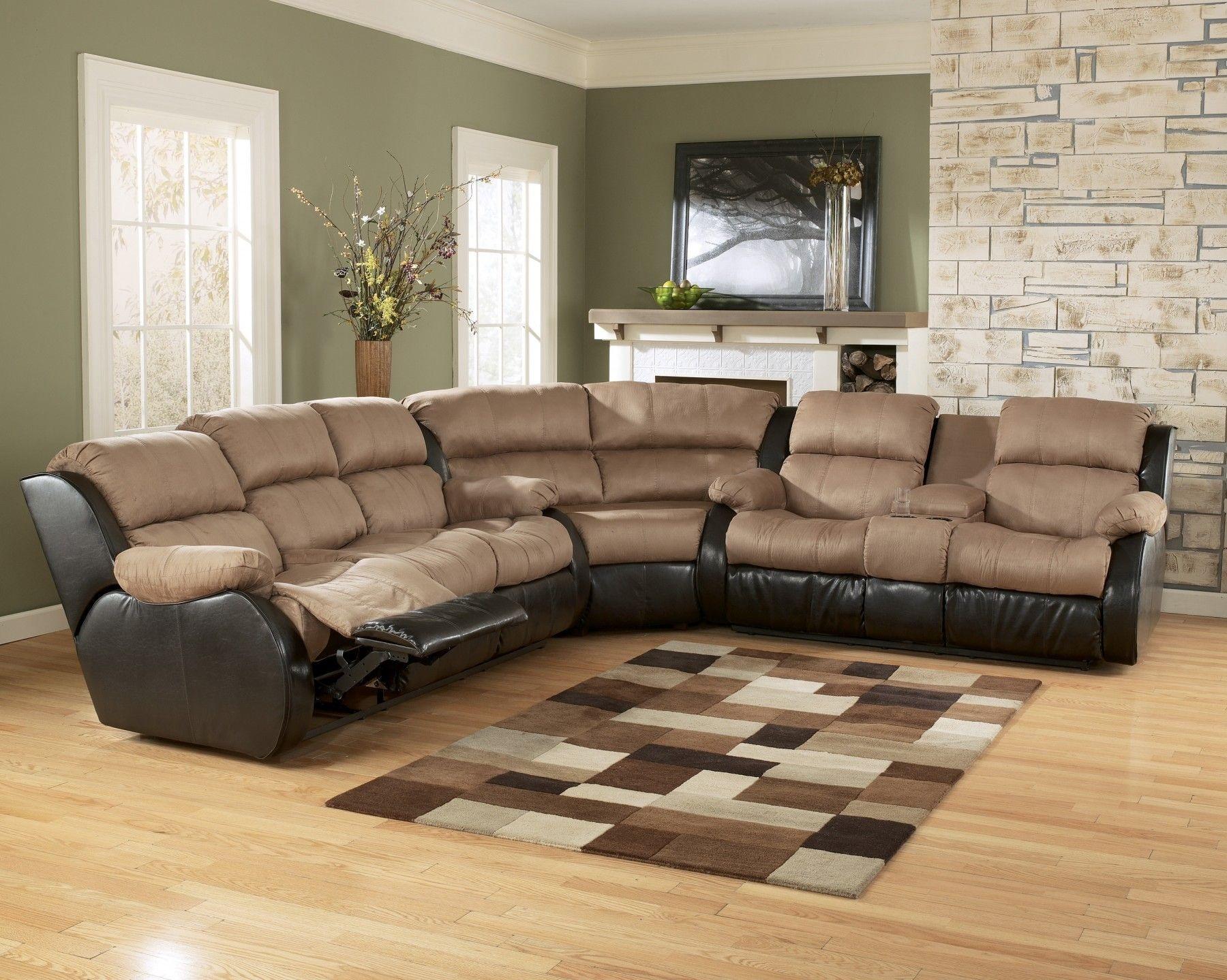canapé d'angle inclinable dans le salon