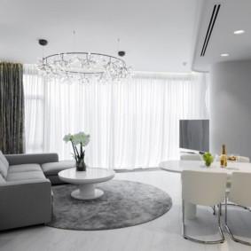 canapé d'angle dans la conception du salon