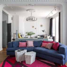 canapé d'angle dans le salon photo design