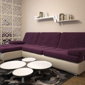 canapé d'angle dans le décor photo du salon