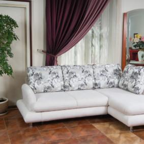 canapé d'angle dans les idées de décoration du salon