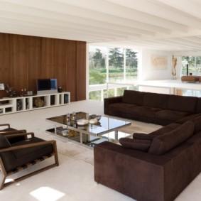 canapé d'angle dans le salon idées intérieures