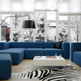 canapé d'angle dans le salon idées intérieur