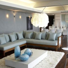 canapé d'angle dans le salon photo décoration