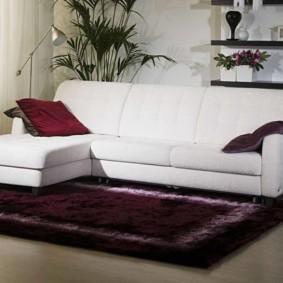 canapé d'angle dans les idées de conception de salon