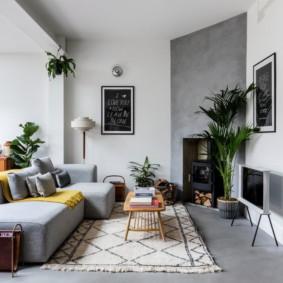 canapé d'angle dans le salon photo