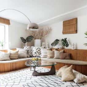 canapé d'angle dans les idées de salon