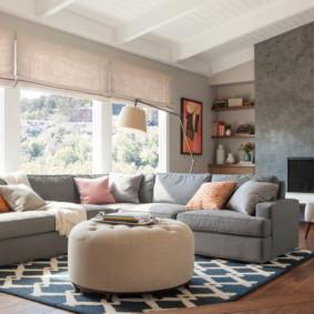 canapé d'angle dans le salon idées photo