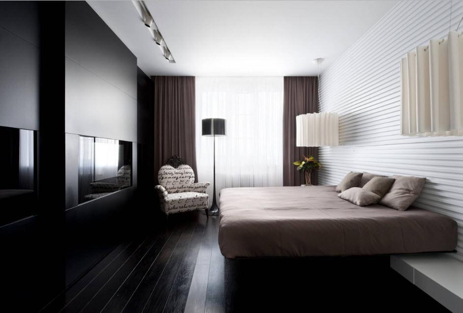 Conception de chambre à coucher avec TV intégrée