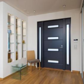 portes d'entrée aux options de l'appartement