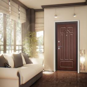 portes d'entrée aux types de design de l'appartement