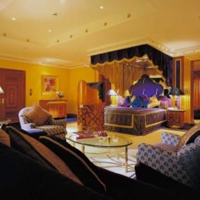 intérieur de la chambre dans des idées de décoration de style oriental