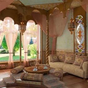 salle intérieure de style oriental