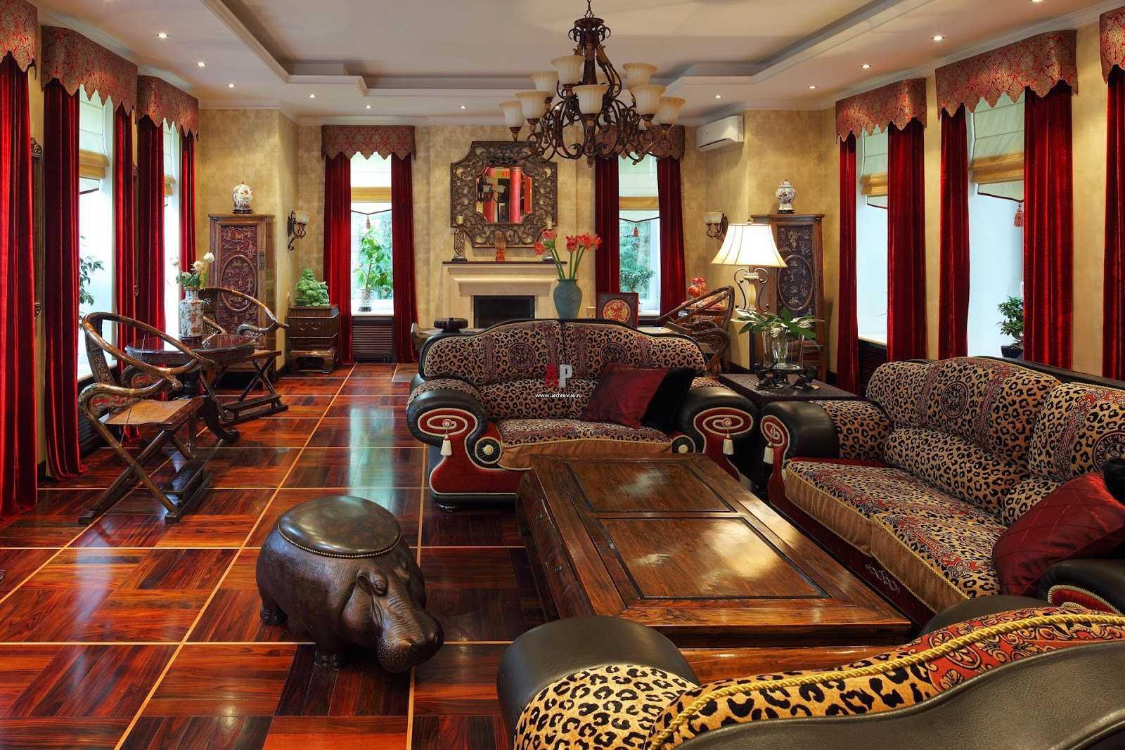 salon lumineux de style oriental