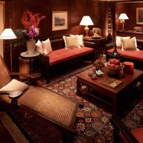 intérieur de la chambre dans un style oriental
