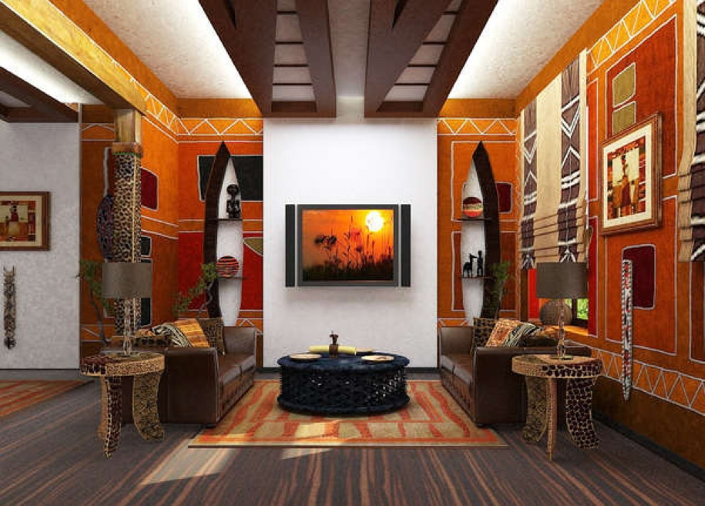 Intérieur de chambre de style africain