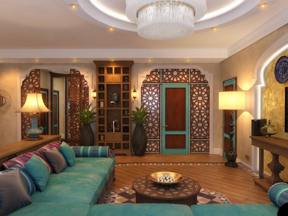 Style arabe dans la conception du hall d'un appartement moderne