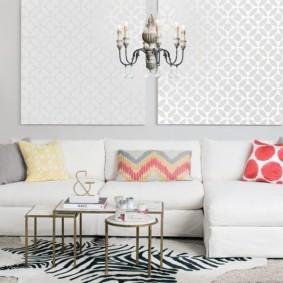 Canapé d'angle couleur claire