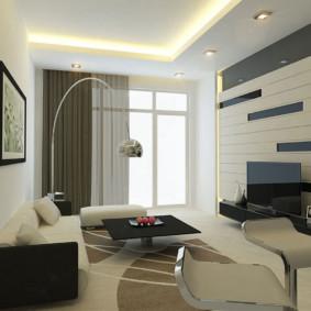 Éclairage de plafond dans une petite pièce