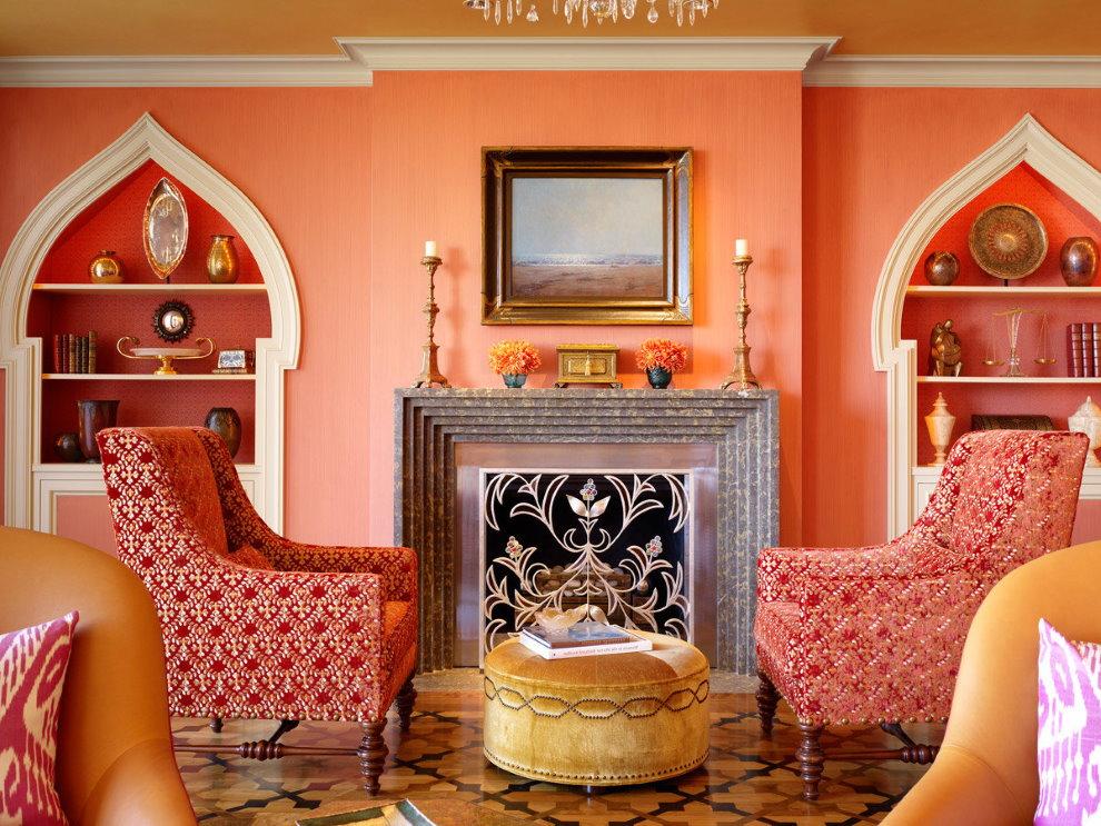 Style marocain à l'intérieur de la salle