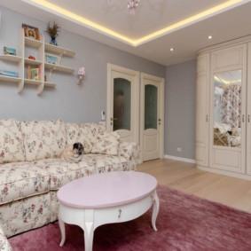 gương trong nội thất của ý tưởng trang trí phòng khách