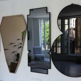 gương trong phòng khách các loại ý tưởng