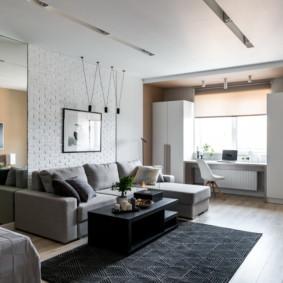 gương trong nội thất của thiết kế phòng khách