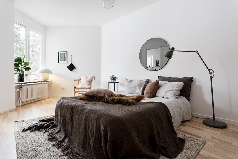 Miroir de chambre de style scandinave