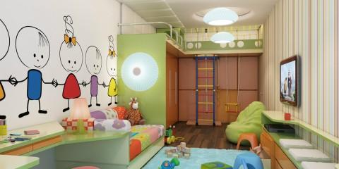 armoire dans la chambre des enfants