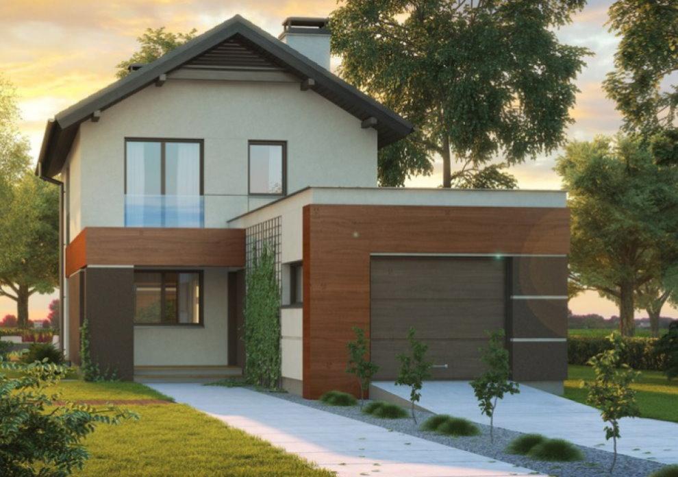 Maison avec garage attenant dans un style moderne