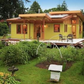 Maison à toit plat d'un étage