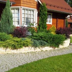 Chemin de jardin rectangulaire