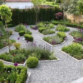 Conception de jardin dans un style classique