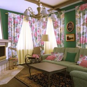 Salon dimensions 4 à 4 dans le style provençal