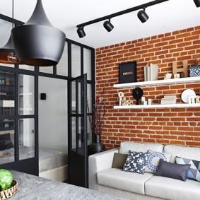 Petit salon de style loft