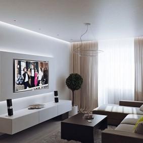 Éclairage TV décoratif dans le hall