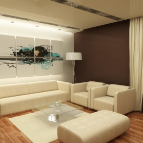 Revêtement ivoire sur des meubles rembourrés
