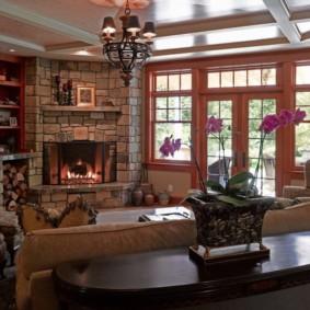 Salon confortable dans une maison privée