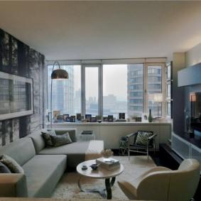 Séjour compact dans un appartement de deux pièces
