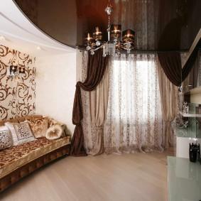 Plafond tendu marron