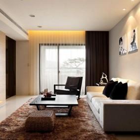 Chiếu sáng trang trí các bức tranh mô-đun trên tường phòng khách