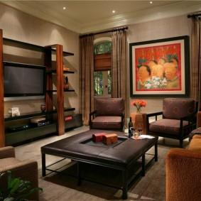 Nội thất phong cách trong phòng khách của một ngôi nhà riêng