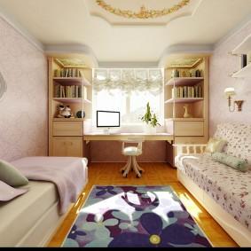 Conception d'une chambre d'enfant de forme étroite