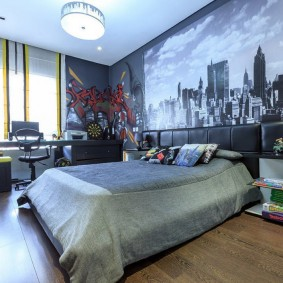 Papiers peints dans la chambre d'un adolescent moderne