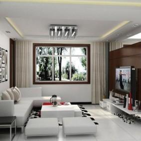 Conception d'une petite salle dans un style moderne